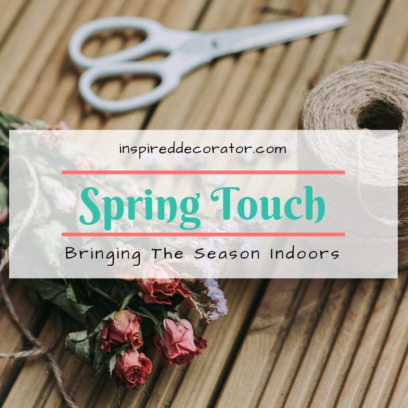 Freshen up your decor this spring with these colorful ideas! Flowers, colors, and prints! www.inspireddecorator.com