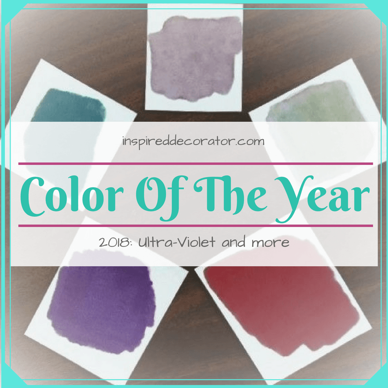 The Color Of The Year selected by Pantone for 2018 is Ultra-Violet. www.inspireddecorator.com