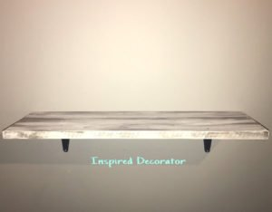 The material of the shelf can also be taken into consideration when varying different textures and colors. www.inspireddecorator.com