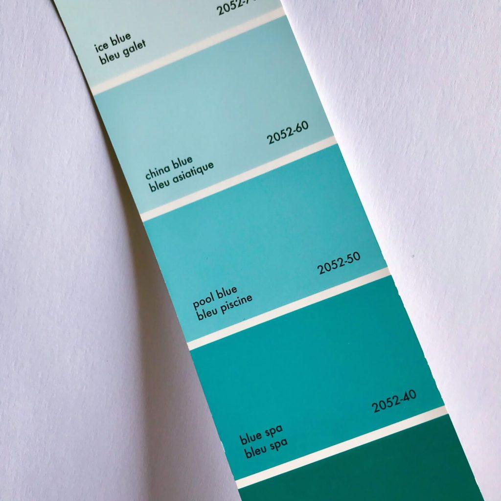 Benjamin Moore Pool Blue 2052-50
