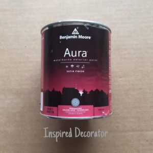 A quart of Aura Exterior Paint is all the swing required
