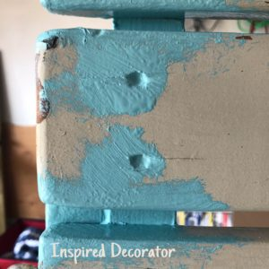 Nailheads and grooves are the first areas that get painted