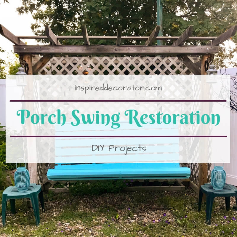 Porch Swing Restoration DIY Project