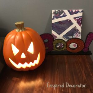 Boo! Have a Happy Halloween with these simple Halloween decorating ideas! Instructions for a ghost circle can be found on the post too! www.inspireddecorator.com