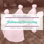 Halloween decorating doesn't need to be extravagant in order to make a spooky impression. There is something to be said about keeping things simple and easy. Check out these simple Halloween decorations! www.inspireddecorator.com