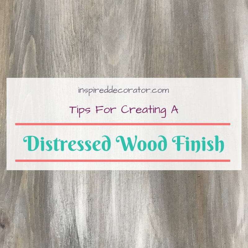 The distressed wood finish is great for beginner diyers. It's forgiving and you can do as little or as much distressing as you want to reach your ideal level of rustic barnboard style. This quick list compiles some easy tips to get you started with creating a distressed wood finish so you can gain confidence and do even more projects! www.inspireddecorator.com