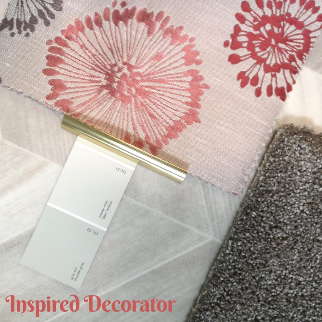 Moodboard Monday: Coral Delights is a beautiful combination of colors including gray, white and the 2019 color of the year Coral. inspireddecorator.com