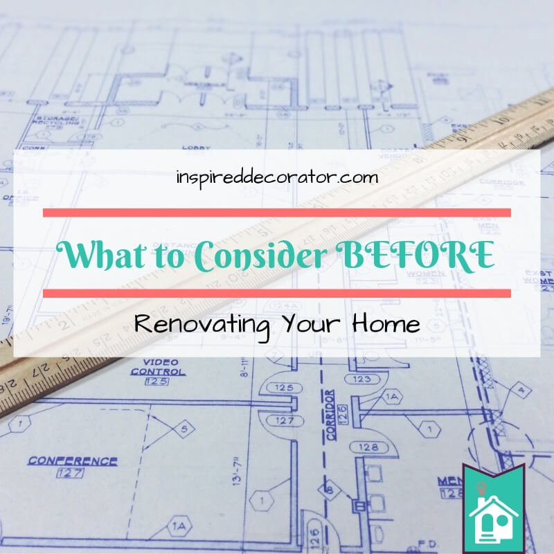 A great list of questions to ask yourself before you start a home renovation! This list addresses things that are commonly overlooked like where you will store your belongings, how much to hire out, what is your vision for the room. www.inspireddecorator.com