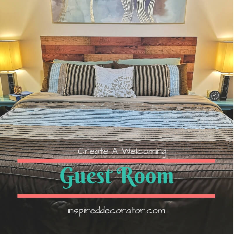 It is possible to create a welcoming guest room on a budget! Read about the design details that make simple guest room an inviting place for guests to rest. www.inspireddecorator.com