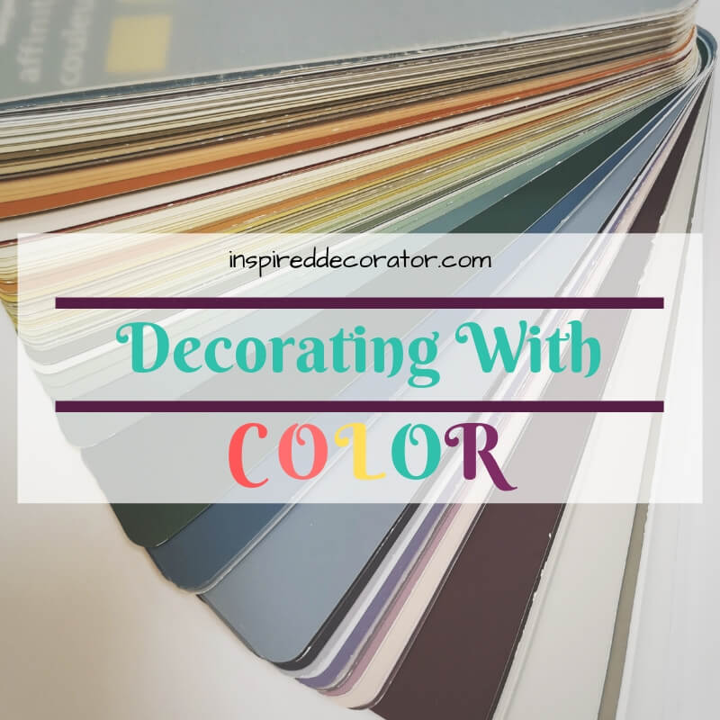 Decorating with color doesn't have to be stressful! Use these simple tips to add more color to a room! www.inspireddecorator.com