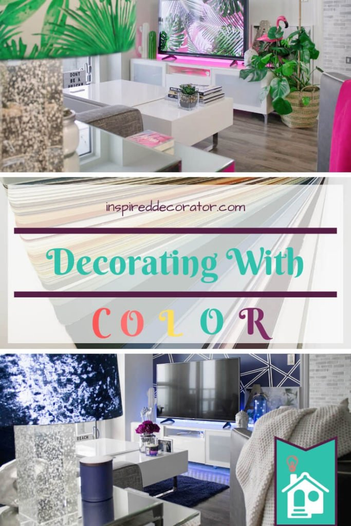 Decorating With Color doesn't have to be stressful! Make it easy to add color to a room with these simple tips! www.inspireddecorator.com