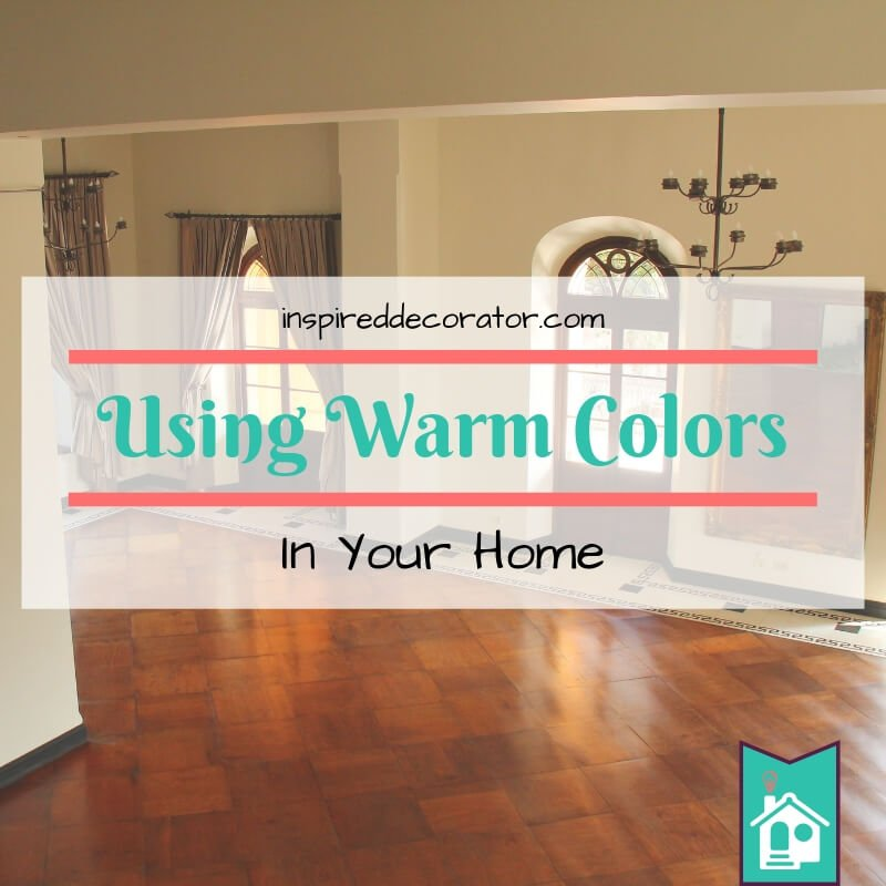 There are benefits to using warm colors in your home. It really does make your room feel warmer and make it feel cozier. Learn how to best use warm colors in your home. inspireddecorator.com