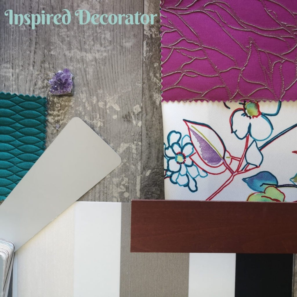 Moodboard Monday: Jewel Tones uses a mix of vivid colors and patterns to add glamour to your room.