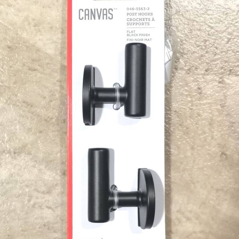 Black towel hooks were found at Canadian Tire