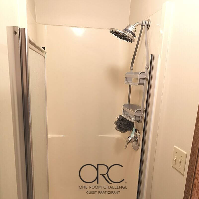 "The current shower stall is a full acrylic shower unit measuring 30"" square."