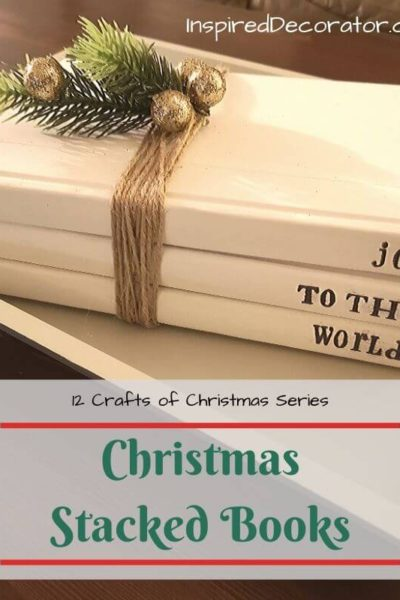 A simple diy decor piece for Christmas . This is a popular decor piece for rustic design homes. It requires a few books, paint, twine, and decorative twigs. You can easily recreate this diy stacked books display in one evening!