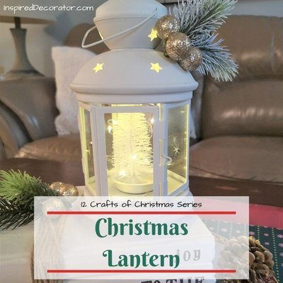 This Christmas Lantern will light up eyes when you create this beautiful craft for Day 4 of the 12 Crafts of Christmas series. This elegant Christmas decoration will fit into any holiday home decor style.