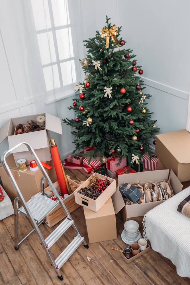 Sort through your Christmas decorations and get rid of the ones you did not use before putting everything back into storage.