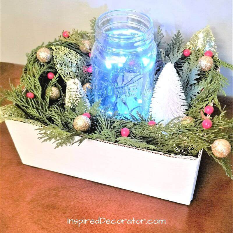 Create a Christmas Centerpiece for your family dinner. This beautiful home decor piece makes a great hostess gift too.