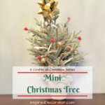 Use a Mini Christmas Tree to add holiday cheer in small homes. You can decorate a mini Christmas tree like a full sized one with a few small-scale supplies.