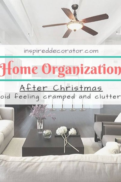 Home organization for After Christmas