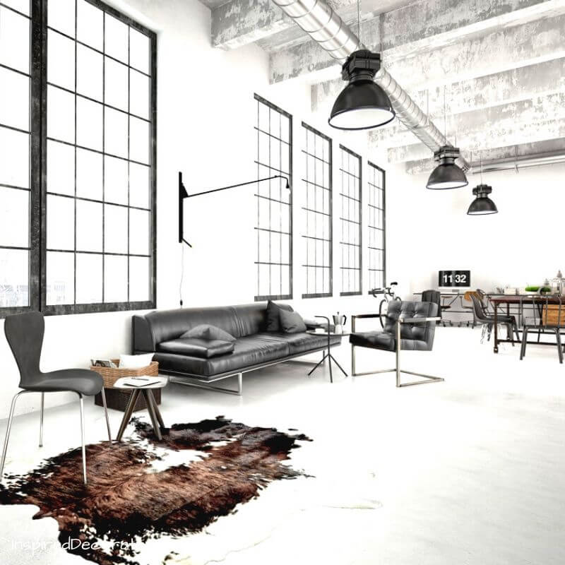 Industrial Style uses dark metals, straight lines, and harder materials.