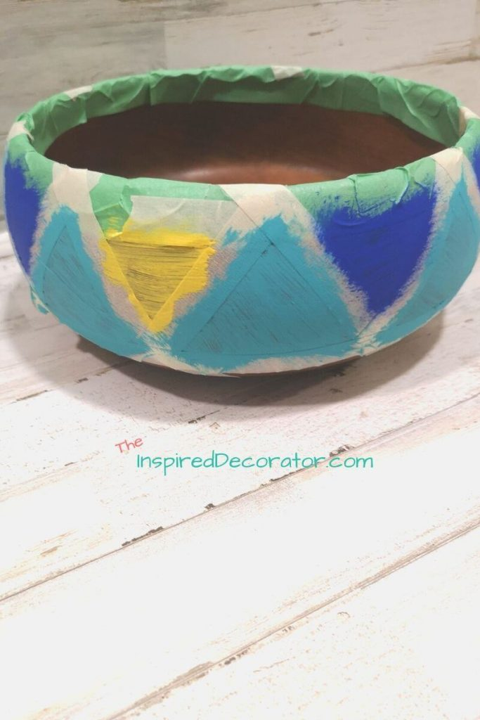Painting your own succulent planter can be therapeutic. Make your own diy art masterpiece using some simples supplies and thrift store finds. - the Inspired Decorator