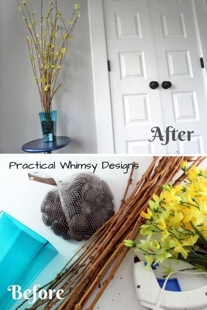 A Simply Branch Design Using Dollar Tree Decor from Practical Whimsy Designs