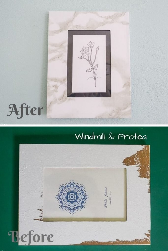 A Faux Marble Photo Frame from Windmill & Protea