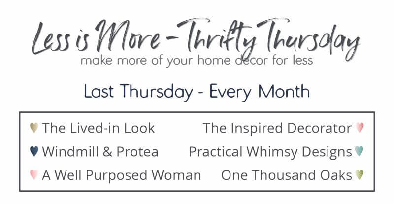 Less Is More Thrifty Thursday series. Make More of your home decor for less.