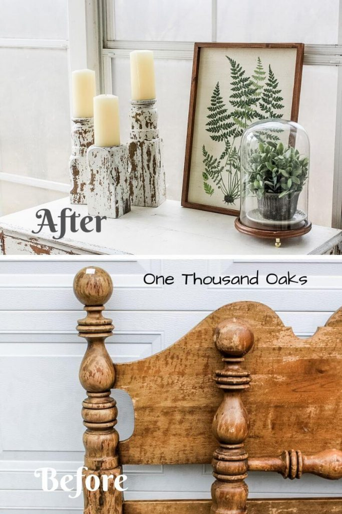 DIY Candlesticks Thrift Upcycle project from One Thousand Oaks