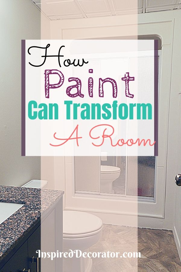 See how paint can transform a room without any extra decor. Paint is the simplest way to make a dramatic change in a room. This small bathroom looks completely different with fresh paint.