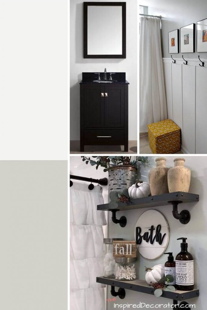 Farmhouse Style Small Bathroom Mood Board- the Inspired Decorator