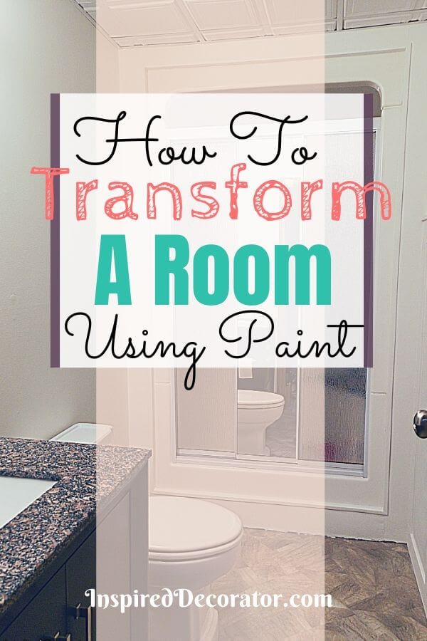 Paint is a cheap way to completely change a room. Here's a few ideas for how to transform a room using paint only.