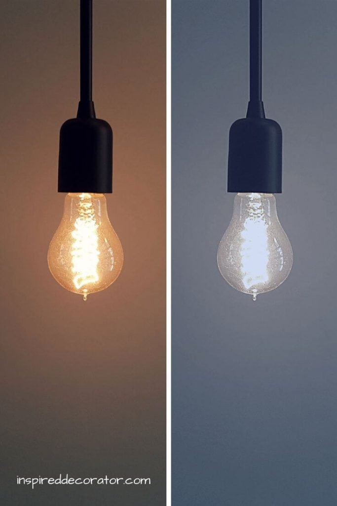 Warm White lighting casts a softer glow while Cool White lighting casts a harsher glow.