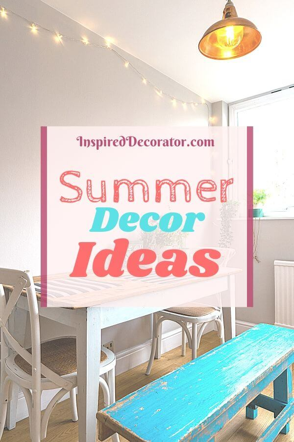 Have fun with your decor by switching out some old faithfuls for one of these trendy Summer decor ideas! - the Inspired Decorator