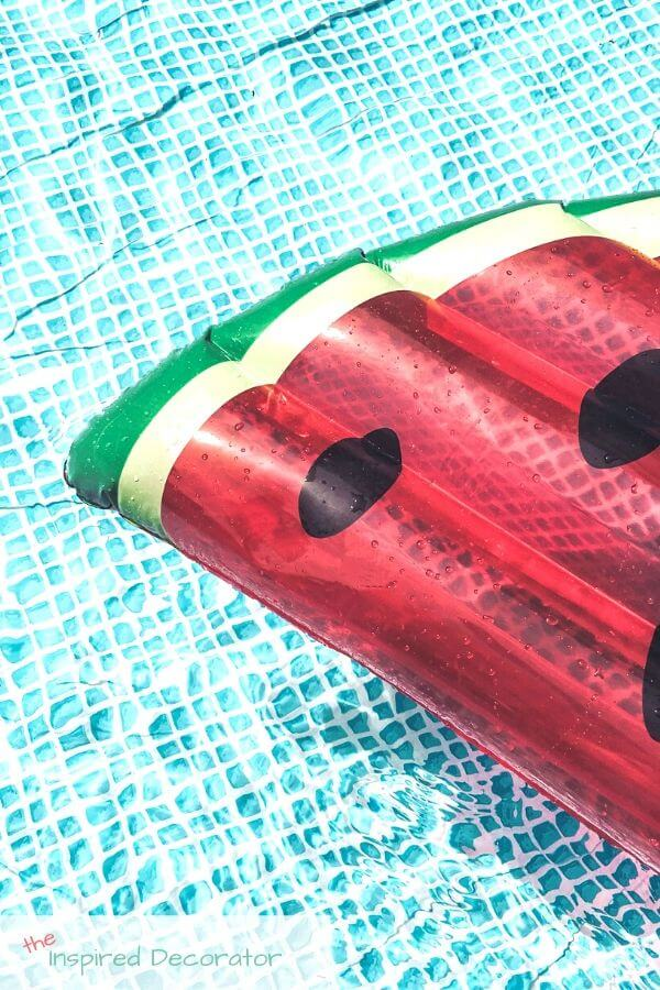 A watermelon pool floaty is a great way to relax in style.