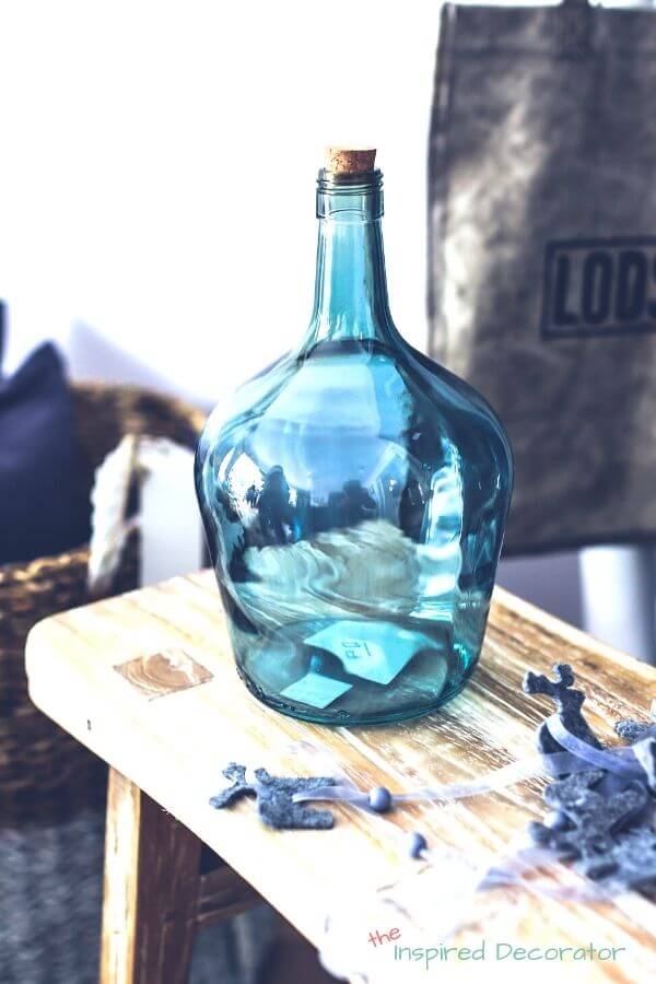 This translucent blue vase is a great way to use the Colour Of The Year in your summer home decor.