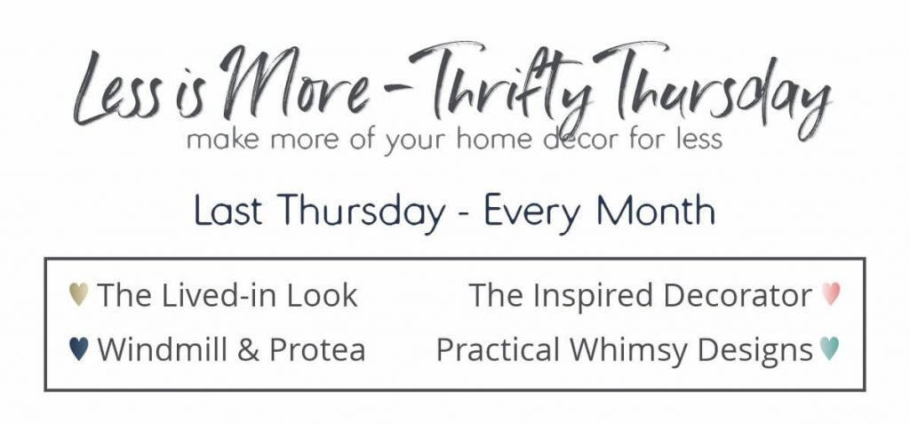 Less Is More Thrifty Thursday monthly series is a round up of great diy projects to help you make more of your home for less!