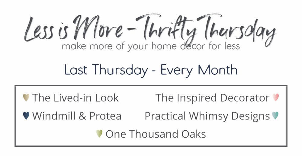 Less Is More- Thrifty Thursday series