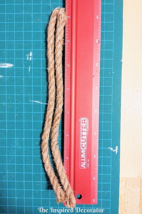 "Step 9: Create two rope handles that are 8"" long."