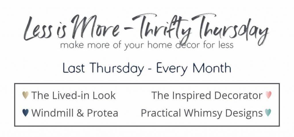 Less Is More Thrift Thursday- Christmas edition featuring The Lived-In Look, The Inspired Decorator, Windmill & Protea, and Practical Whimsy Designs