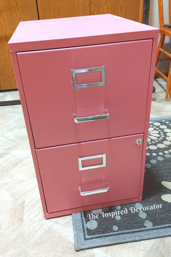 A dated hot pink filing cabinet worked great in a college dorm room, but not so great for a family office.