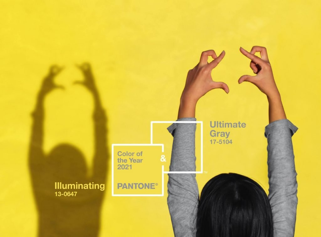 Pantone Color Of The Year 2021 choices are Illuminate Gray and Illuminating
