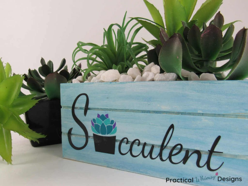 Wooden Succulent Contianer by Practical Whimsy Designs