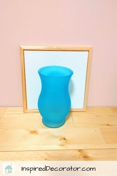 Before: the flower vase was a regular glass vase from the florist shop.
