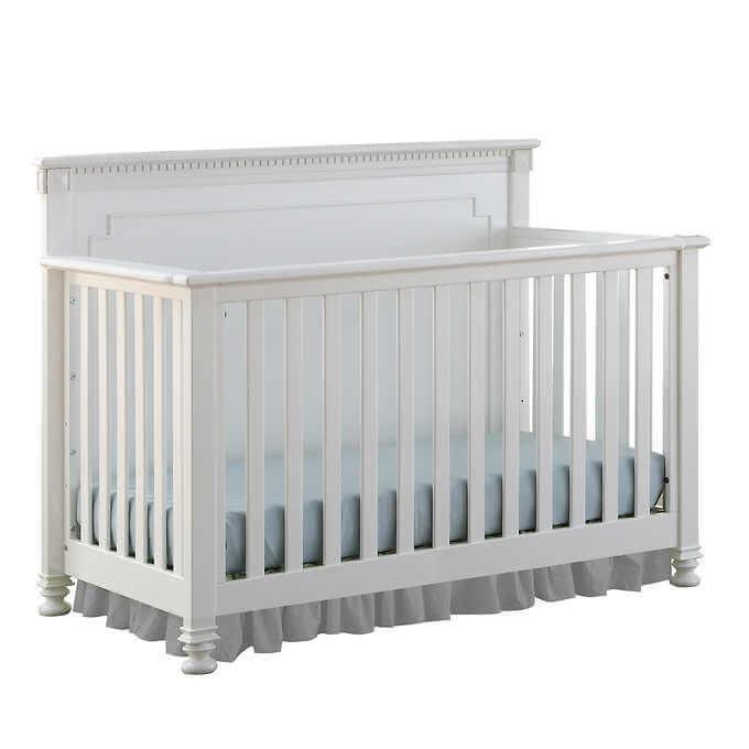 costco white belgian crib set