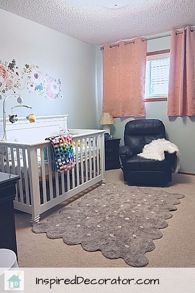 Girl's nursery room reveal by the Inspired Decorator