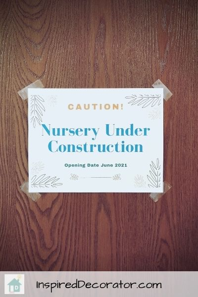 Baby Girl's nursery room reveal is here! This sign was created as a way to share the pregnancy news with my husband.