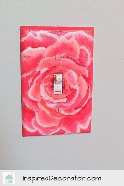 Customize your light switch cover plate with acrylic paint! A fun diy project for beginners.